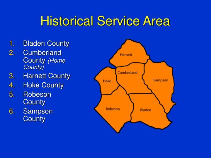 Historical Service Area
