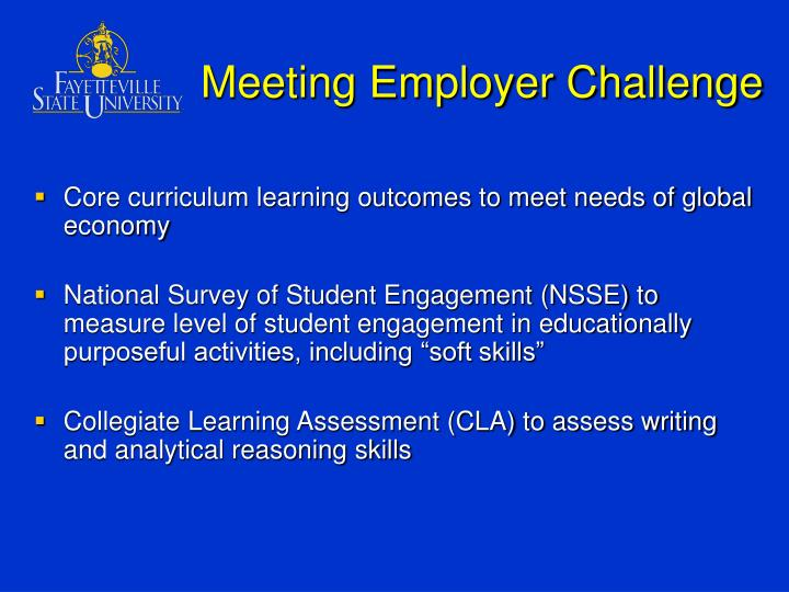 Meeting Employer Challenge