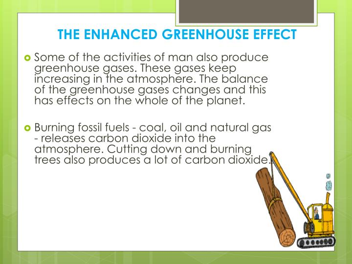 THE ENHANCED GREENHOUSE EFFECT