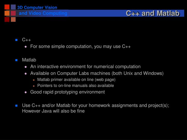 C++ and Matlab