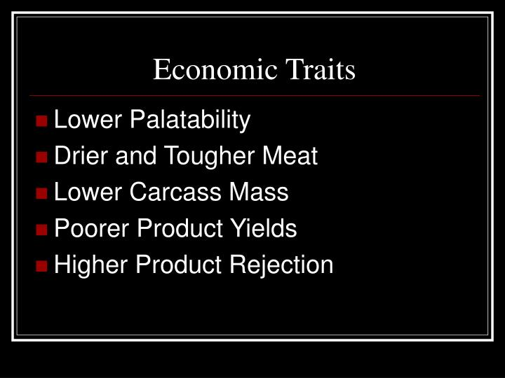 Economic Traits