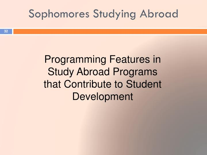 Sophomores Studying Abroad