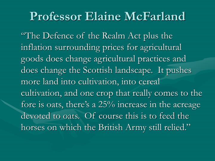 Professor Elaine McFarland