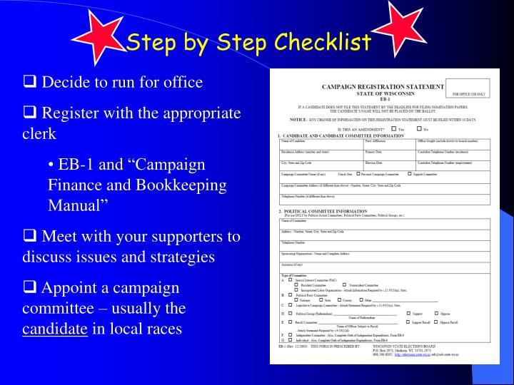 Step by Step Checklist