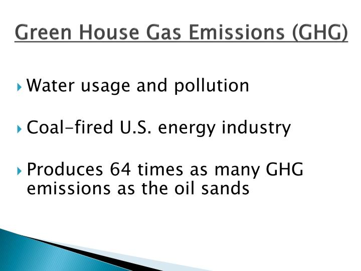 Green House Gas Emissions (GHG)