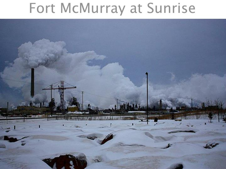 Fort McMurray at Sunrise