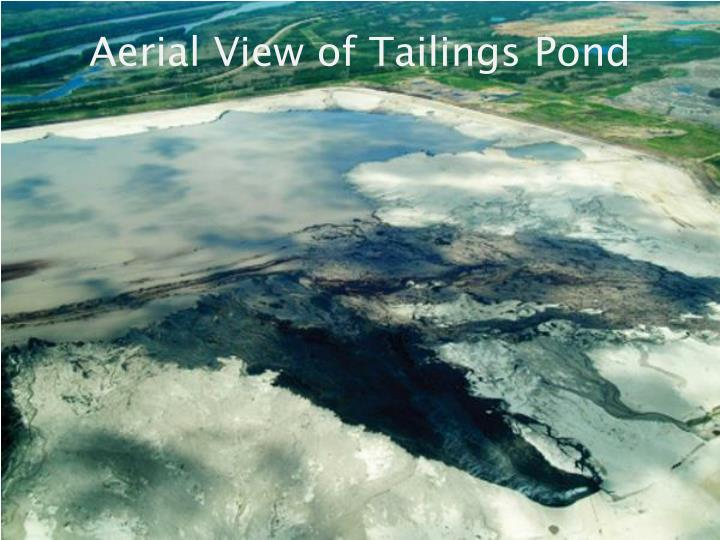Aerial View of Tailings