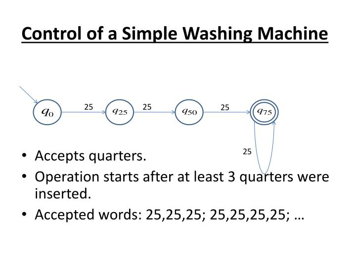 Control of a Simple Washing Machine