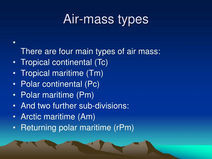Air-mass types