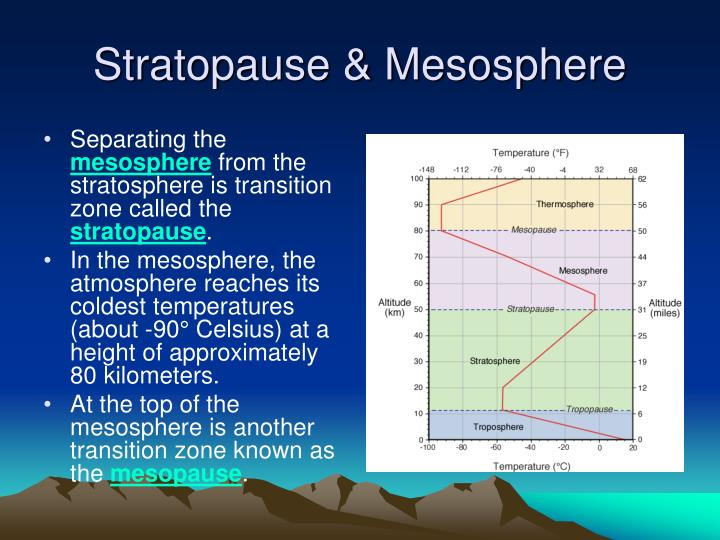 Stratopause & Mesosphere