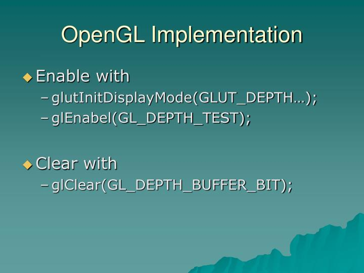 OpenGL Implementation