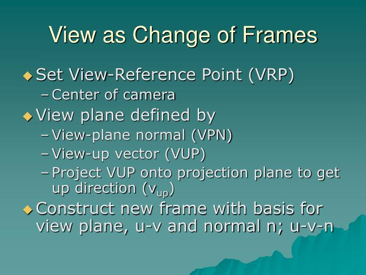 View as Change of Frames