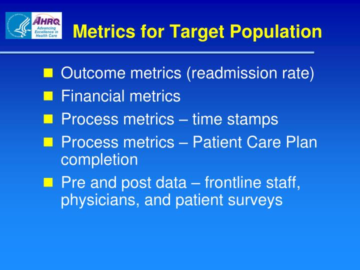 Metrics for Target Population
