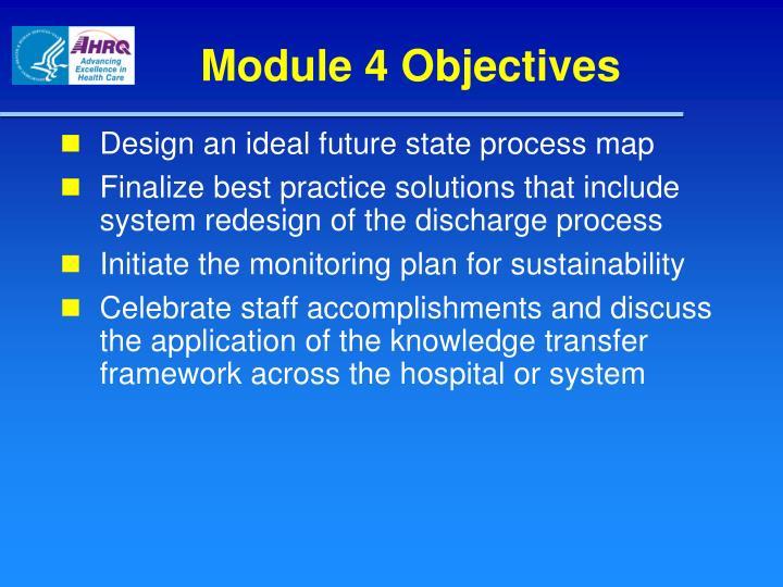 Module 4 Objectives