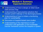 module 4 summary expected outcomes