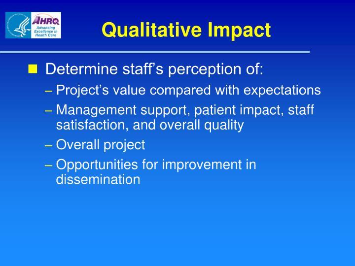 Qualitative Impact