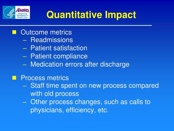 Quantitative Impact