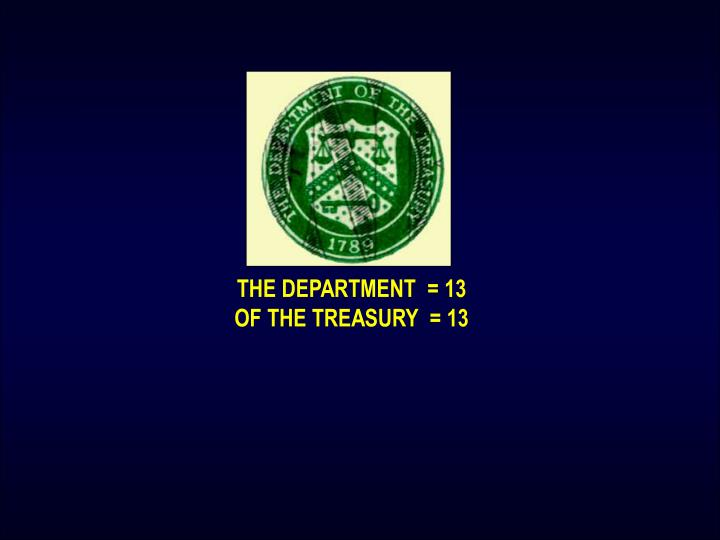 THE DEPARTMENT  = 13