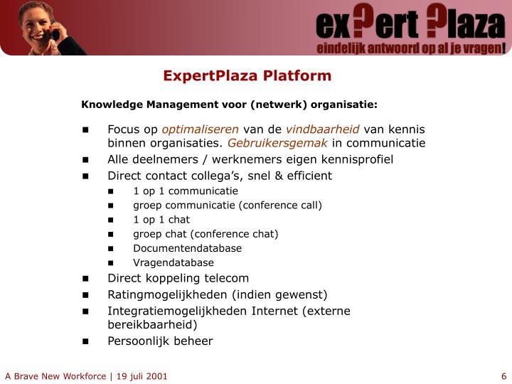 ExpertPlaza Platform