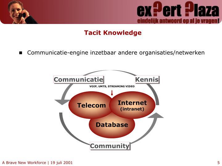 Communicatie-engine inzetbaar andere organisaties/netwerken