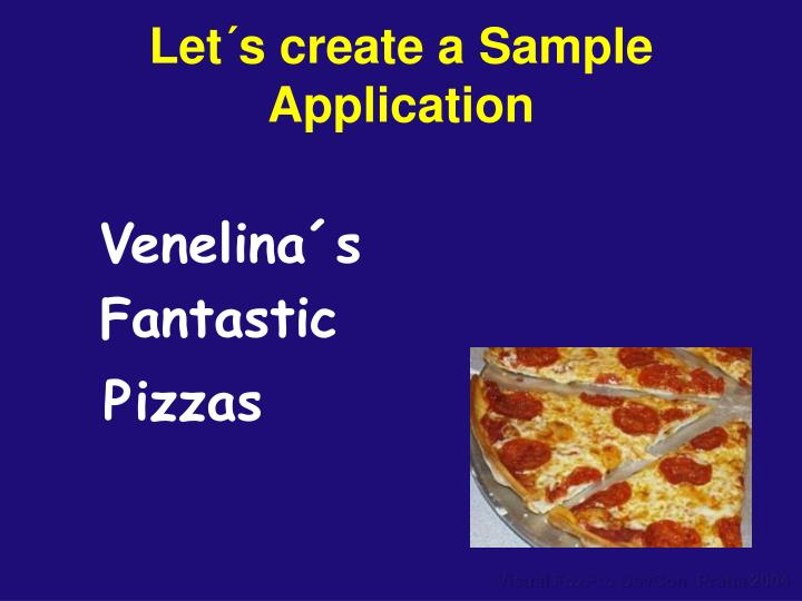 Let´s create a Sample Application