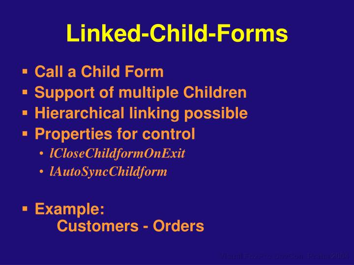 Linked-Child-Forms