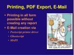 printing pdf export e mail