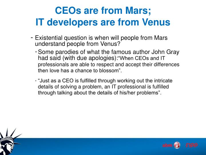 CEOs are from Mars;