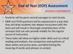 end of year eoy assessment