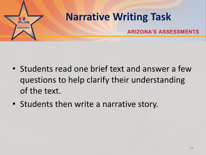 Narrative Writing Task