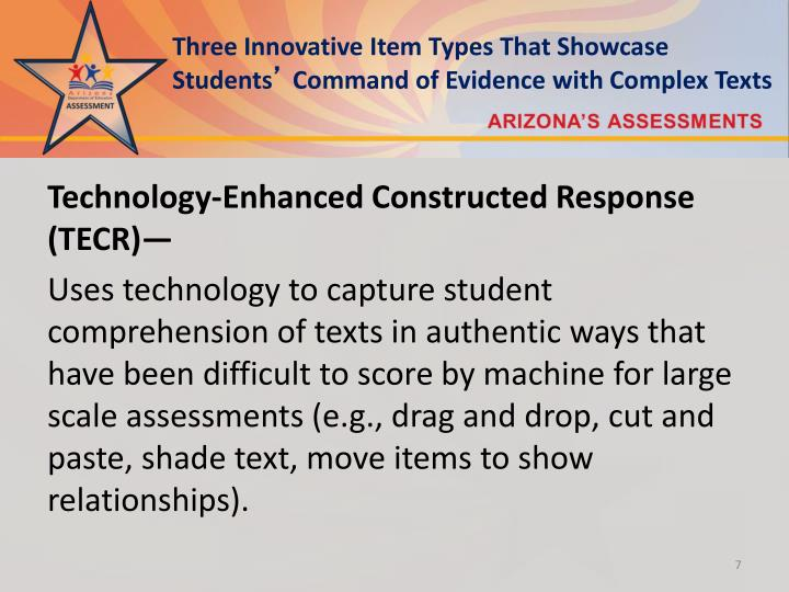 Three Innovative Item Types That Showcase Students