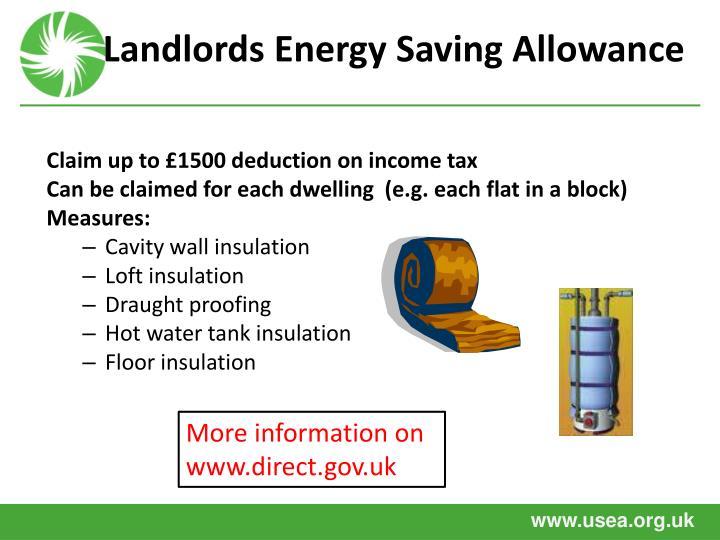 Landlords Energy Saving Allowance