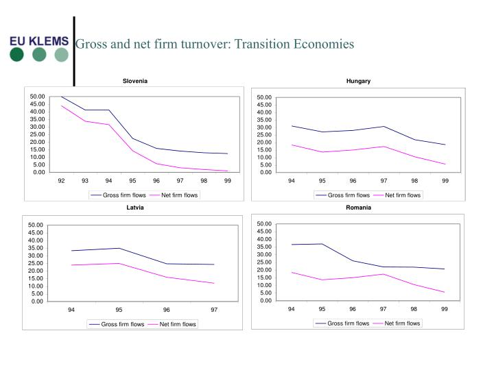Gross and net firm turnover: Transition Economies