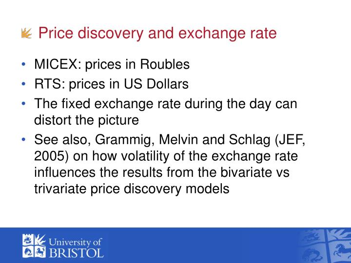 Price discovery and exchange rate