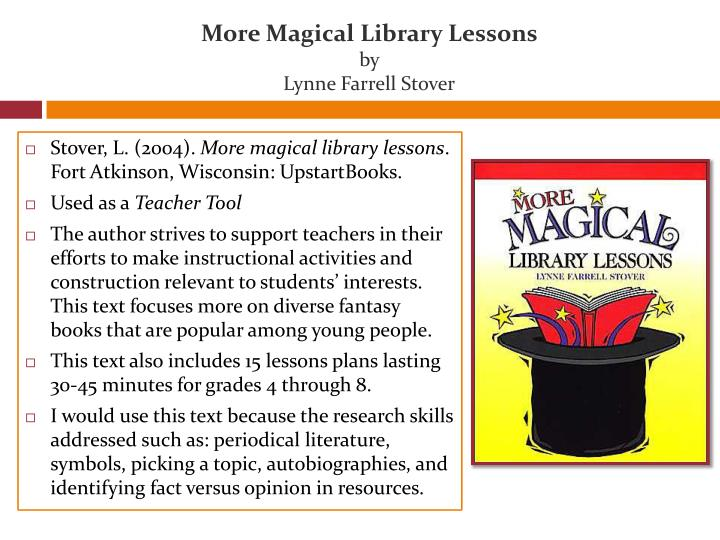 More Magical Library Lessons