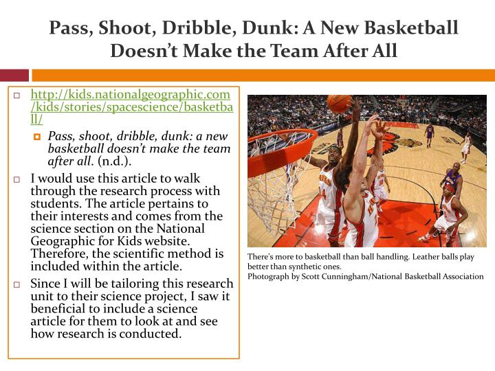 Pass, Shoot, Dribble, Dunk: A New Basketball Doesn't Make the Team After All