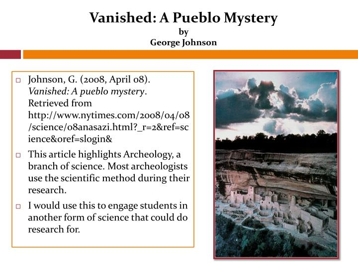 Vanished: A Pueblo Mystery