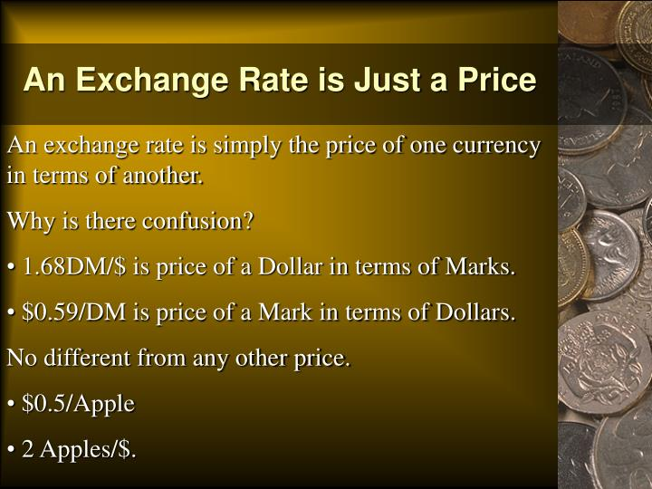 An Exchange Rate is Just a Price