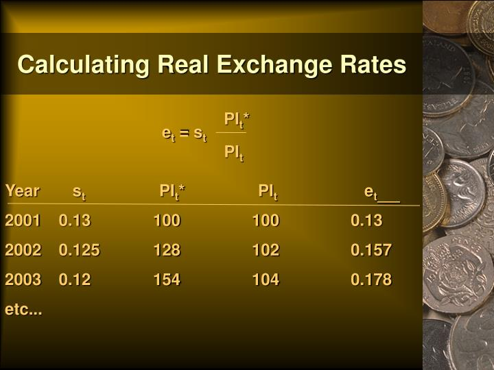 Calculating Real Exchange Rates