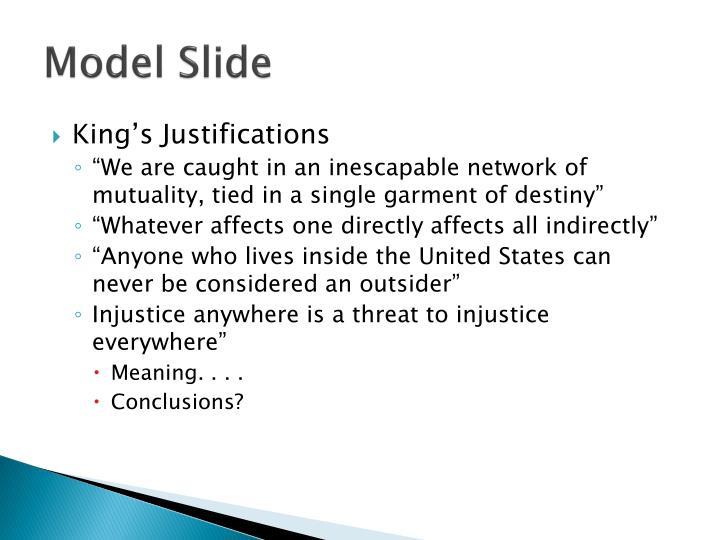Model Slide