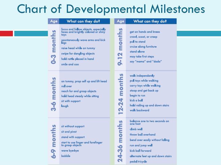 Chart of Developmental Milestones