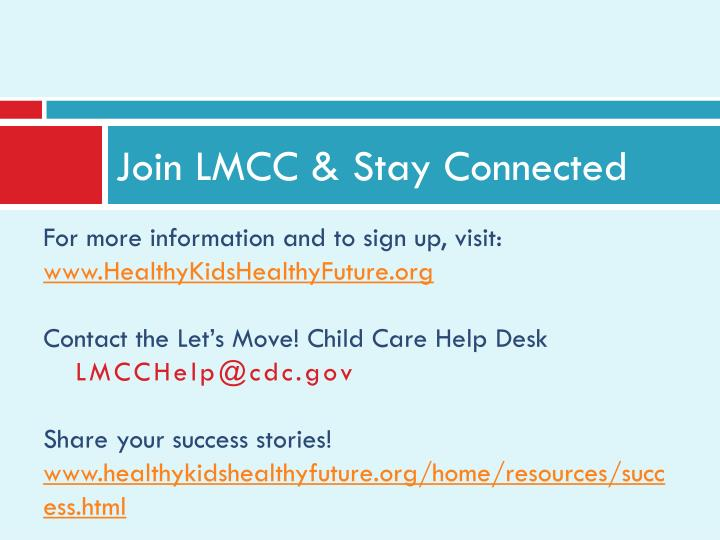 Join LMCC & Stay