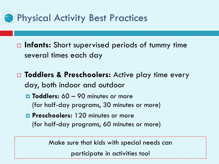 Physical Activity Best Practices