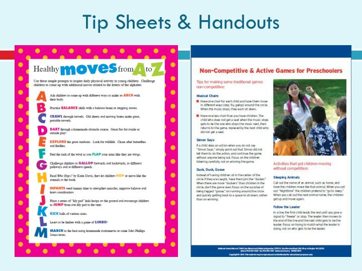 Tip Sheets & Handouts