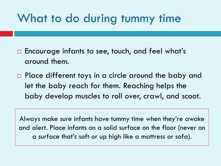 What to do during tummy time