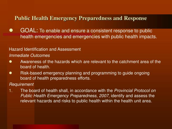 Public Health Emergency Response Guide|Preparation & Planning