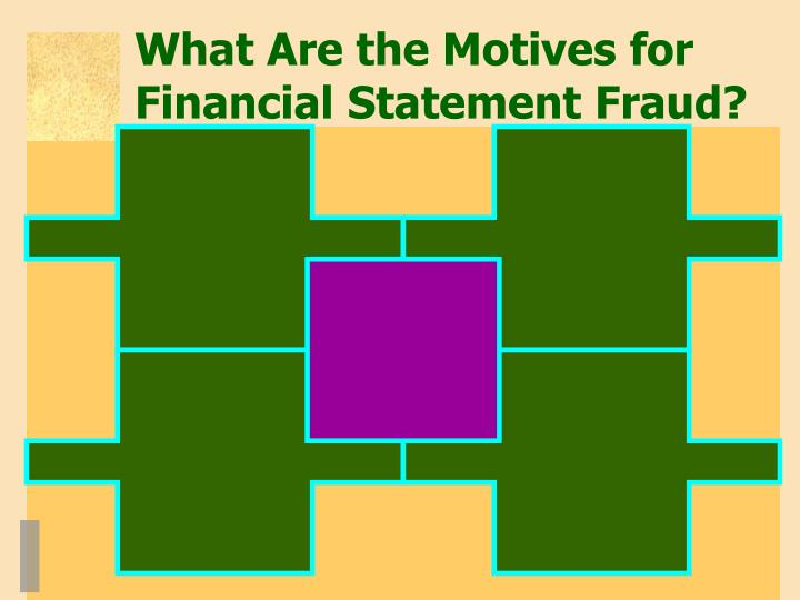 What Are the Motives for Financial Statement Fraud?