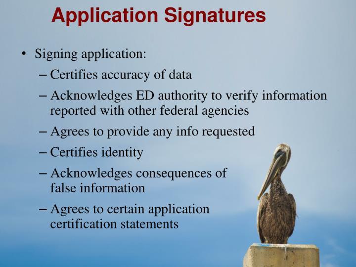 Application Signatures