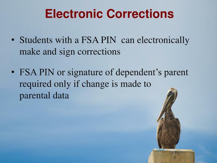 Electronic Corrections