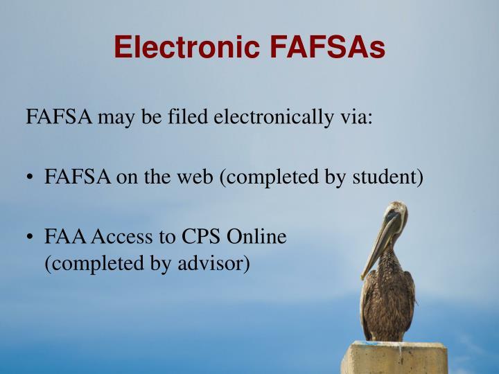 Electronic FAFSAs